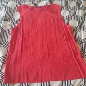 Gap Deep Coral Top with fringe-like detail